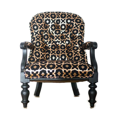 Metallic Chair in Black and Copper