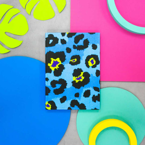 Blue Leopard Print A5 Notebook