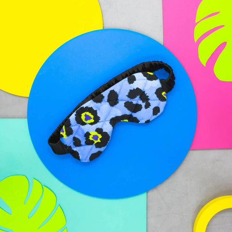 Blue Leopard Print Eye Mask