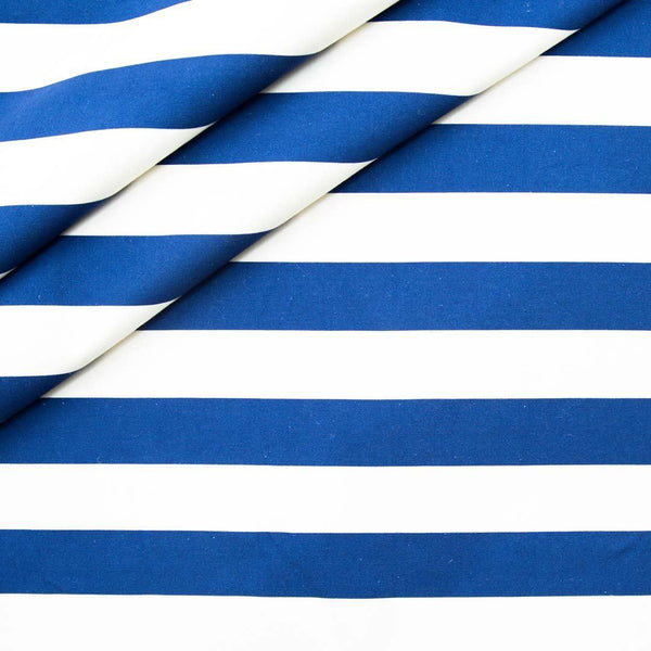 Blue Stripe Cotton Fabric | Penelope Hope