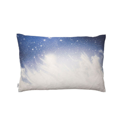 Starry Sky Print Cotton Cushion in Blue | Penelope Hope