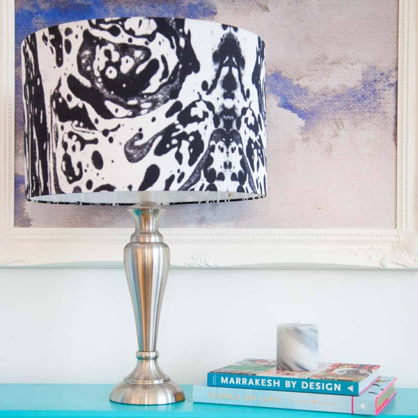 Mono Marble Lampshade in silk by Penelope Hope