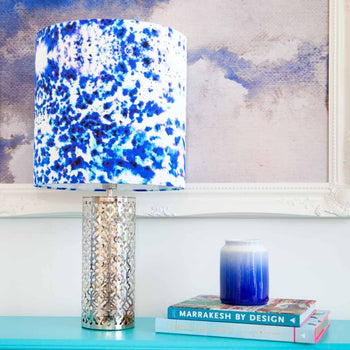 Mesmerise Watercolour luxury lampshade in silk by Penelope Hope