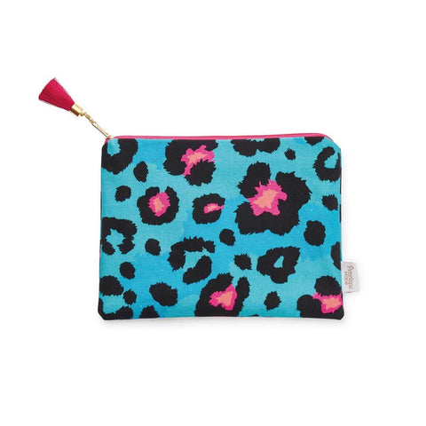 Colourful leopard print zip pouch by Penelope Hope