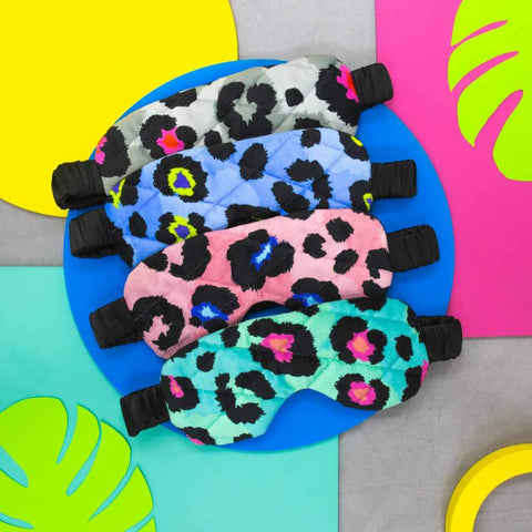 Leopard Print Eye Masks in 4 colourways