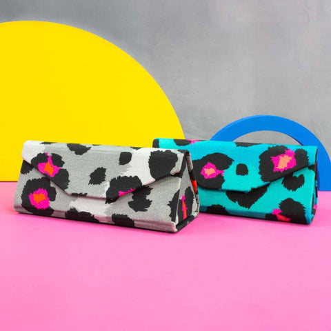 Colourful Leopard Print Sunglasses Case