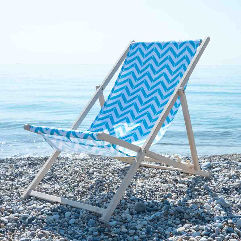 Let's take a Dip! Aqua Deckchair by Penelope Hope