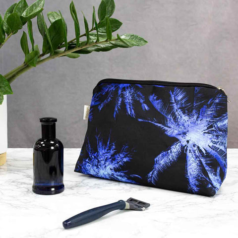 Palm Sky Midnight Men's Wash Bag