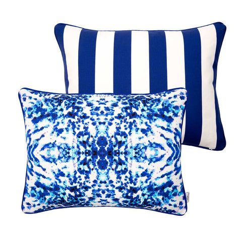 Mesmerise Watercolour Rectangular Cushion 35x45cm | Penelope Hope