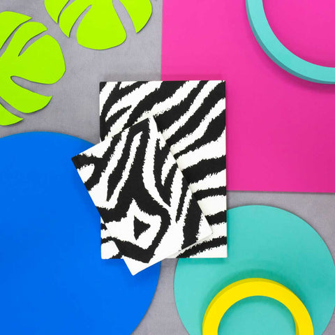 Mono Zebra Print Notebook
