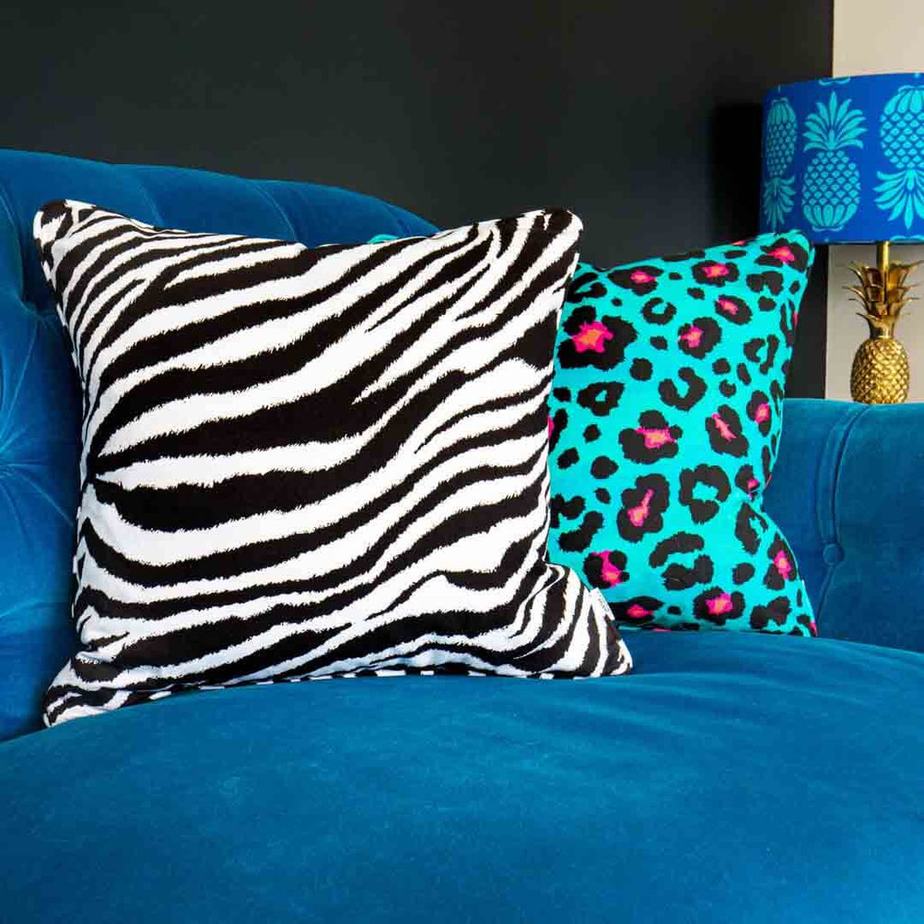 Mono Zebra Print Cushion