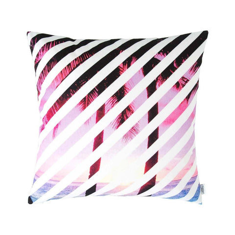 Pink Palms Tropical Cushion | Penelope Hope