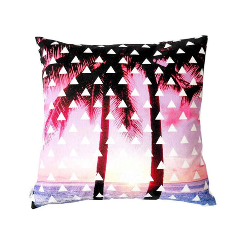 Back of Pink Palms Cushion | Penelope Hope