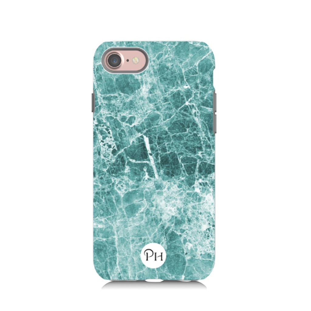 Emerald Green Marble Phone Case by Penelope Hope