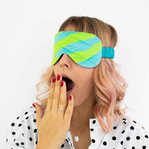 Colourful Zebra Print Velvet Eye Mask