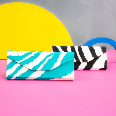 Zebra Print Foldable Glasses Case