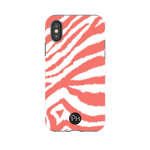 iPhone Case Zebra print in Coral | Penelope Hope