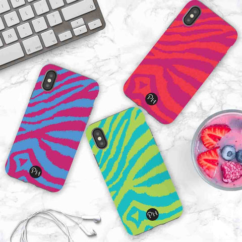 iPhone Cases in colourful Zebra print designs | Penelope Hope