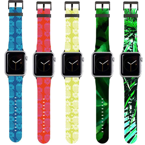 Tropical Print Apple Watch Straps