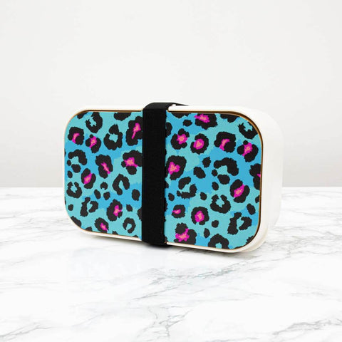 Teal Leopard Print Lunchbox