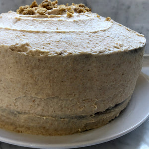 Pumpkin Cake with Graham Cracker Cream Cheese Buttercream