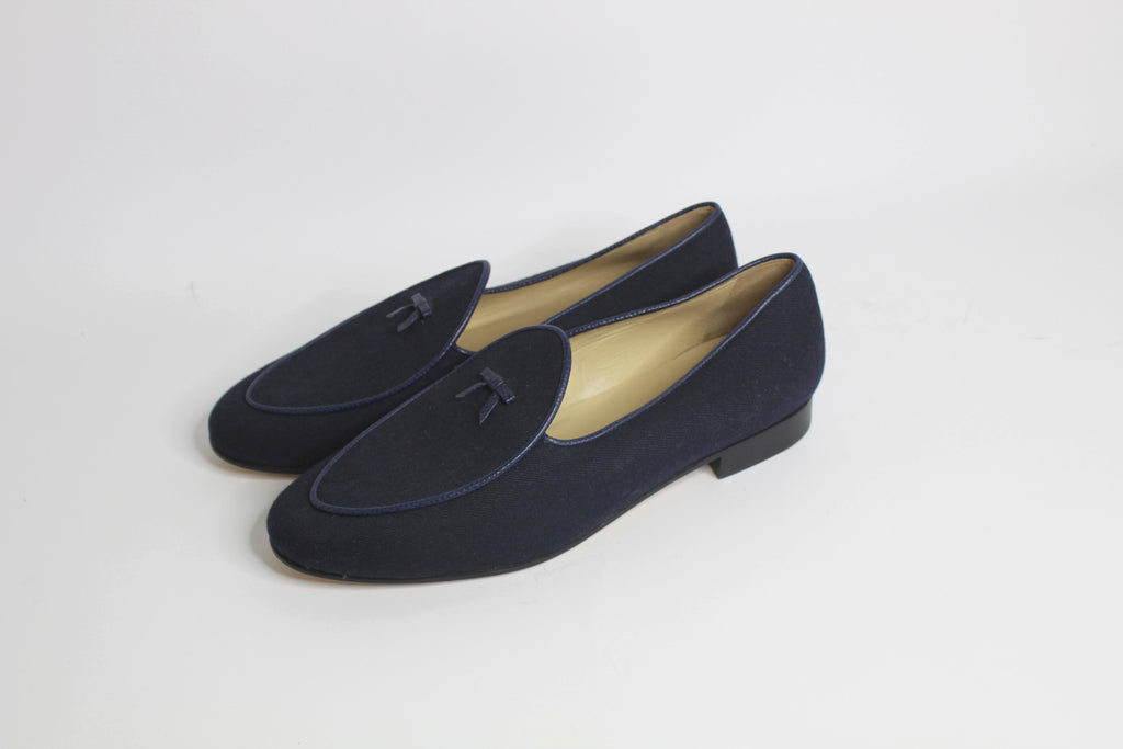 Continental Loafer in Navy Flannel