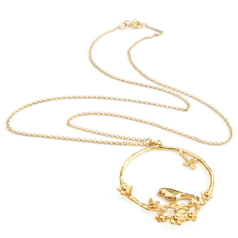 Alex Monroe Flowery Bird Loop necklace