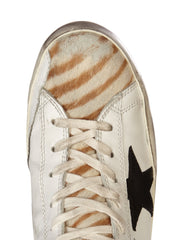Golden Goose Francy Sneakers Destroyed Zebra
