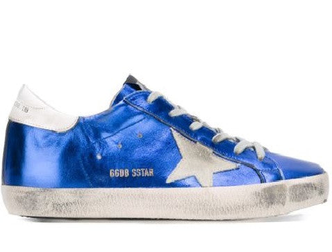 Golden Goose Super Star Sneakers Blue Laminated