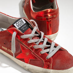 Golden Goose Super Star Sneakers Red Mirror