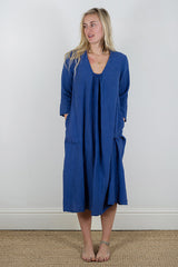 Manuelle Guibal Zik Dress in Royal Blue