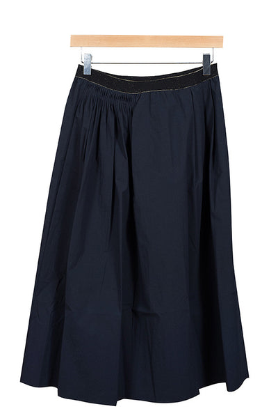 Pomandere Long Navy Skirt