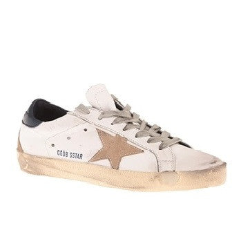 Golden Goose Super Star Sneakers White Blue Cream Sole