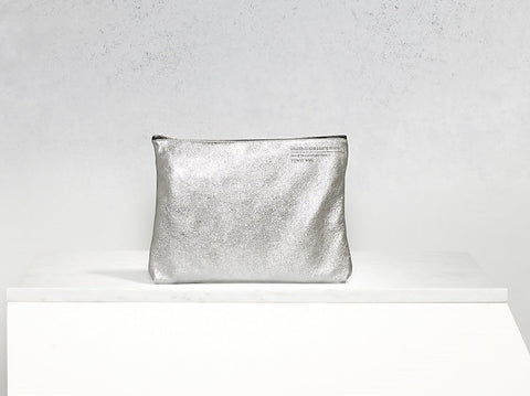 Golden Goose Toast Bag Silver Nappa