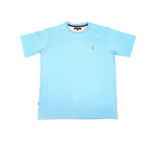 "Open image in slideshow, DLAB ""Ballon Graffiti"" Embroidered Tee (Sky Blue)"