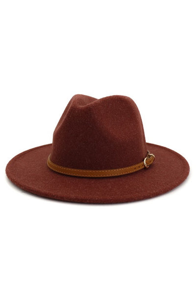 Panama Hat w/ Leather Belt