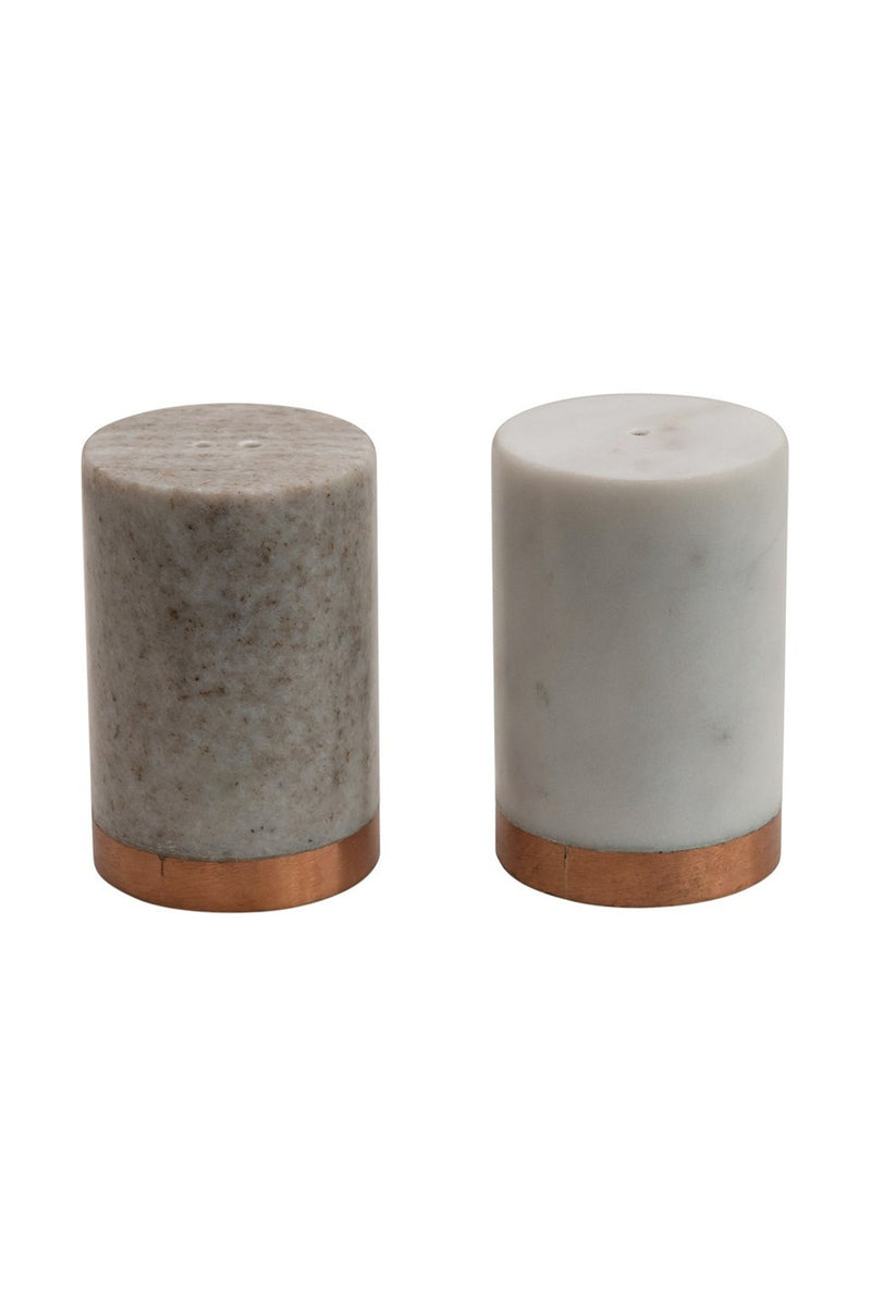 Marble Salt and Pepper Shakers-Set
