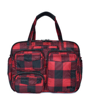 Puddle Jumper Duffel in Buffalo Check Red