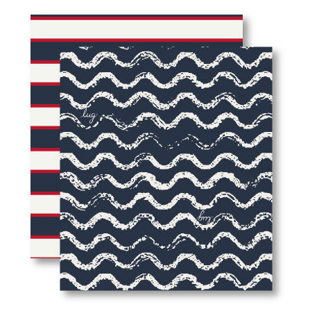 Waves Navy Pattern