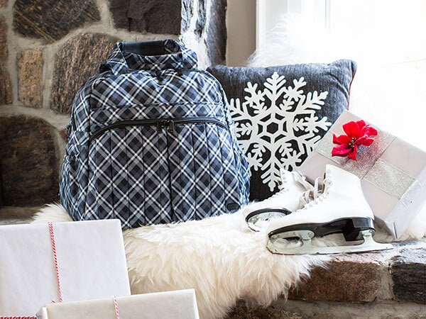 Plaid Boxer2 Overnight tote Holiday collection