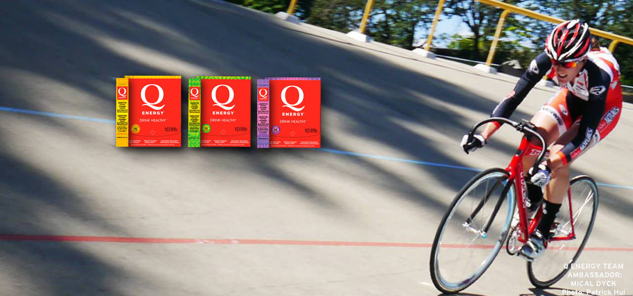 Q Energy - Drink Healthy. All Natural Sport Performance and Healthy Energy Drink featuring Quercetin. Ambassador Eric Goodwin