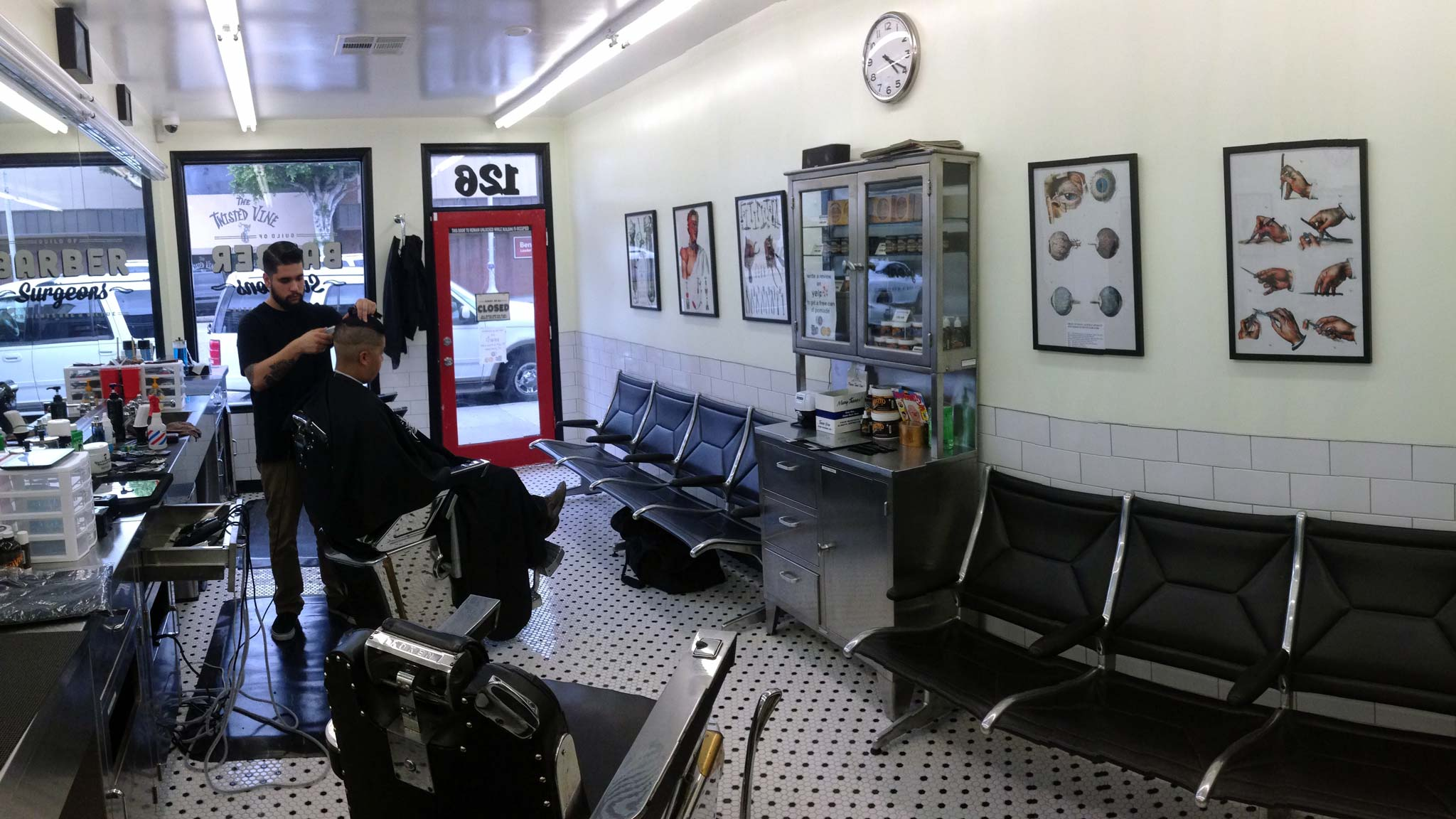 Inside Barber Surgeons Barbershop