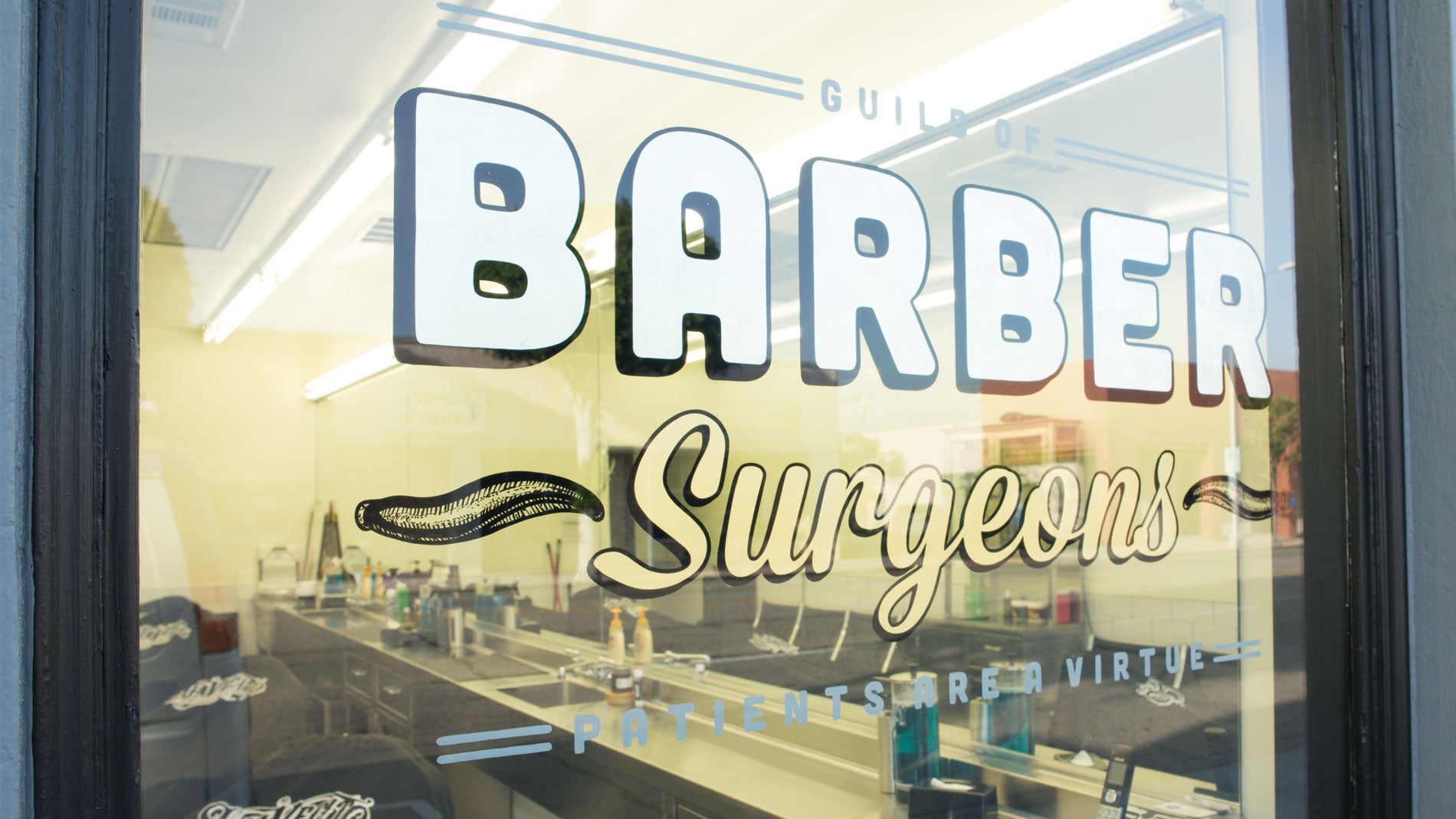 Barber Surgeons barbers bar back
