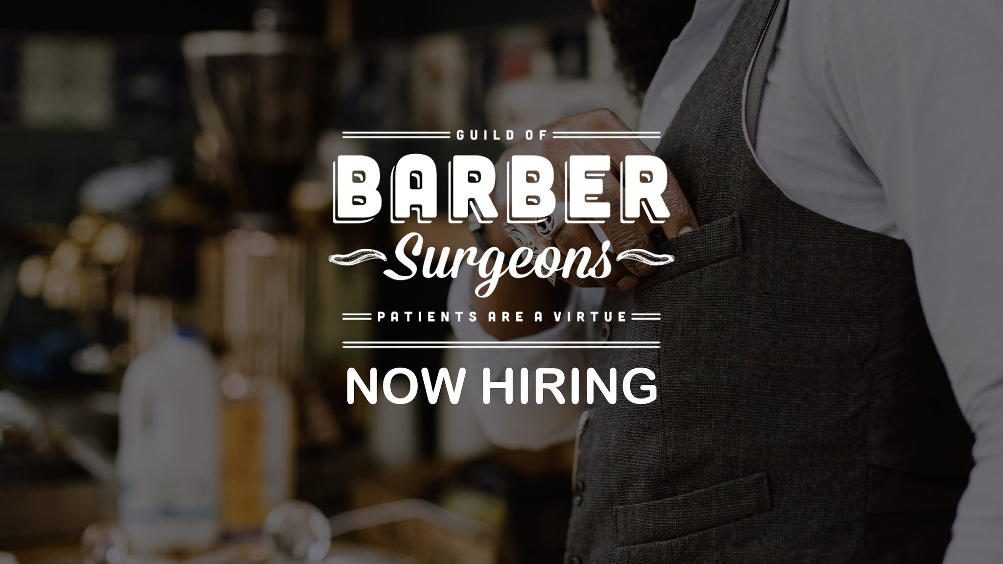 Now hiring barbers for Barber Surgeons Fullerton
