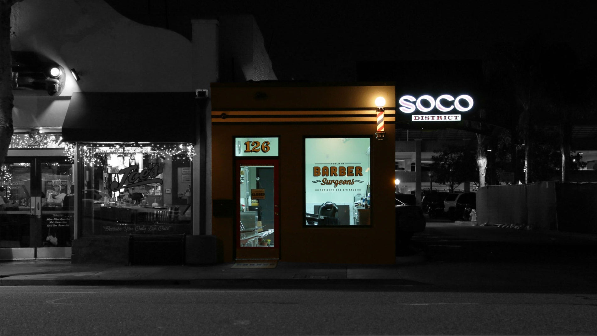We Are Located In The SOCO District in Downtown Fullerton.