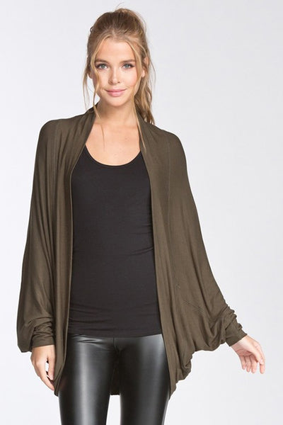 Hanna Batwing Cardigan in Olive