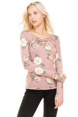 Alexa Floral Blouse in Pink