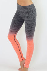 Black and Coral Ombre Leggings