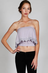 Lavender and Lace Tube Top