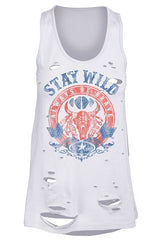 Stay Wild Distressed Tank